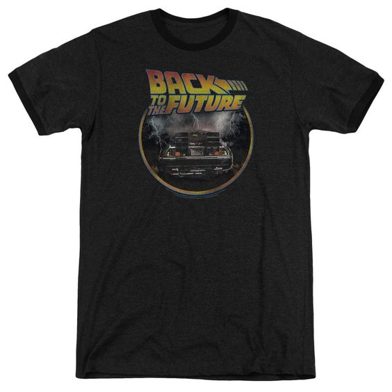 Back To The Future - Back Adult Ringer T- Shirt