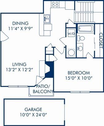 1 Bedroom 1 Bathroom Apartment For Rent At Camden Legacy Park In Plano Tx With Images Dollhouse Design Camden Plano