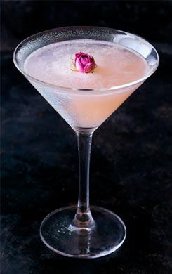 Rose and Lychee Martini. My favourite!! Try it when you're in London at Ping Pong  classy and exotic cocktail - tanqueray 43.1% gin, rose petals, fresh lemon juice and lychee juice