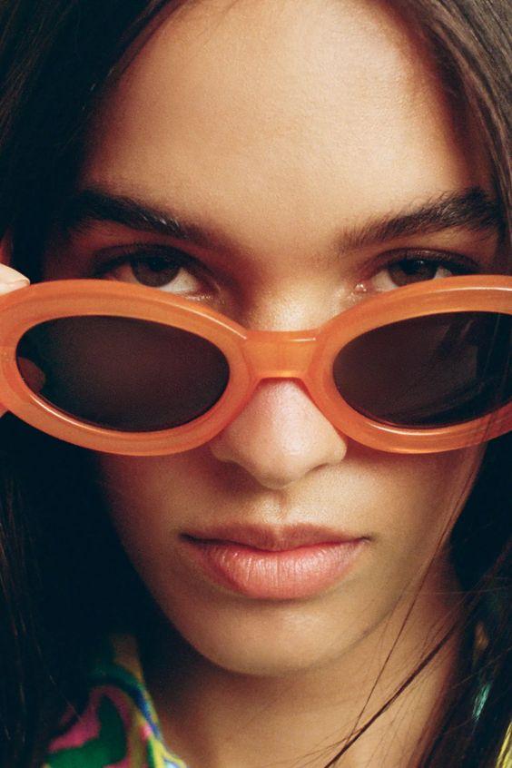 orange Sunglasses with colourful frame zara sale
