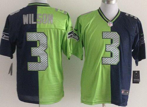 2013 New Arrival Nike Seattle Seahawks 3 Russell Wilson Blue Green ...