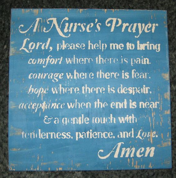 A Nurse's Prayer......... Wall Plaque by hilltopprims on Etsy