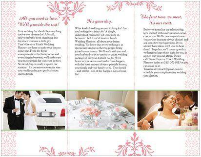 wedding planner brochure - Wedding Decor Ideas