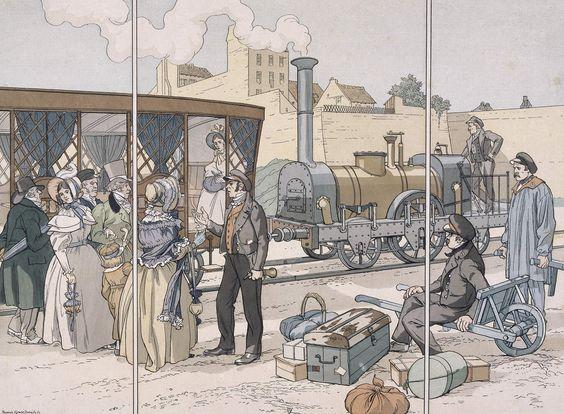 Eugène COURBOIN - Le premier chemin de fer parisien.