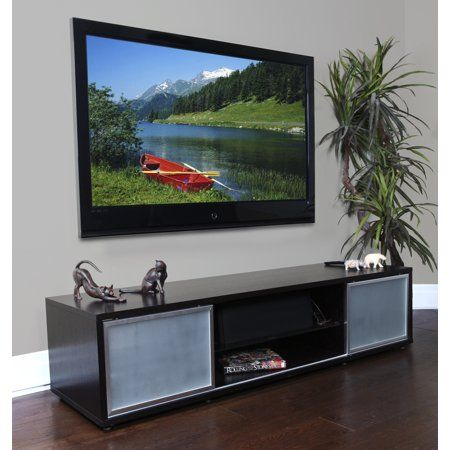 Audio And Video Credenza With Storage Holds Up To 80 Inch Tv 75 Inch Tvs Contemporary Tv Stands 80 Inch Tvs
