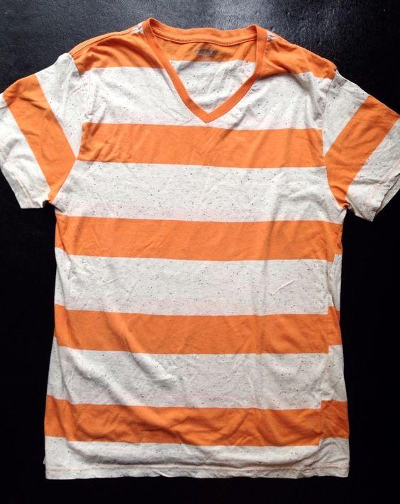 Orange And White Striped Top