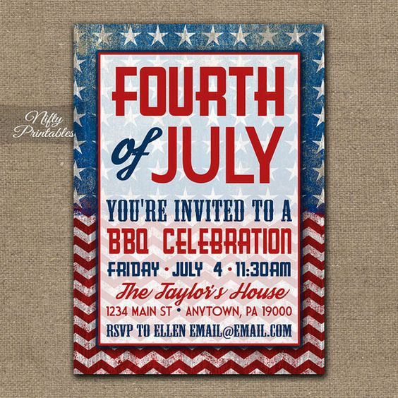 fourth of july invitation background