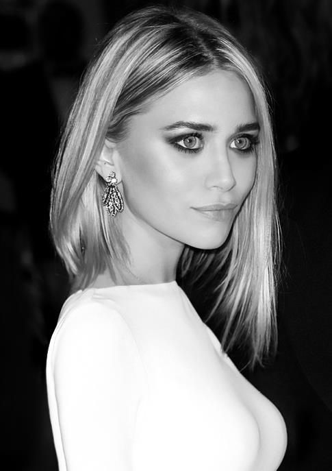 Olsen twins--if only my hair could look like this, long bob, middle part