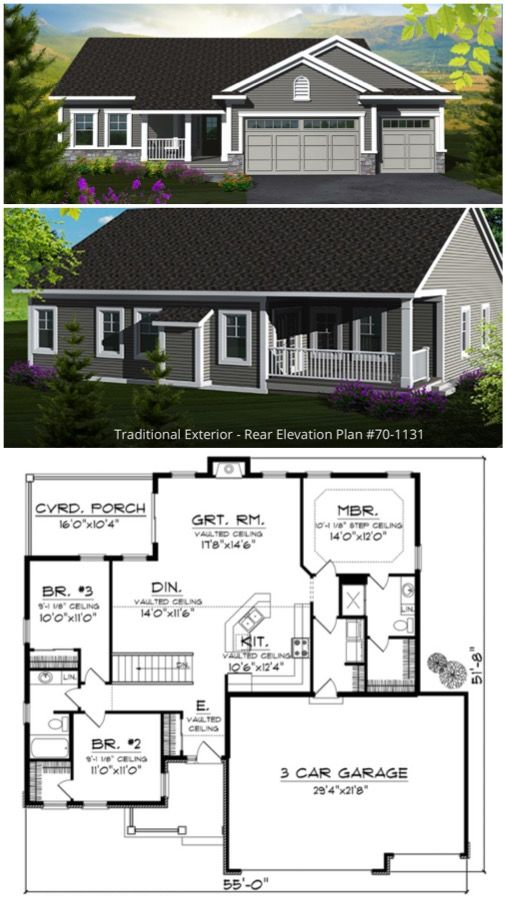 Traditional Style House Plan 3 Beds 2 Baths 1501 Sq Ft Plan 70 1131 Courtyard House Plans Garage House Plans Garage Plans Detached