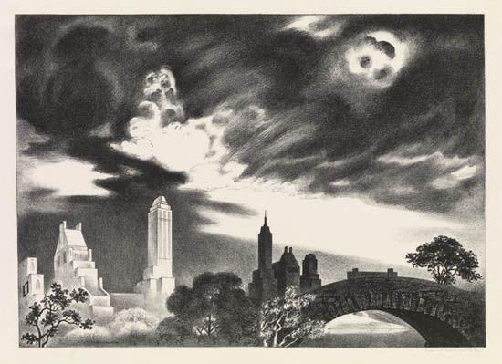 Angry Skies by Louis Lozowick