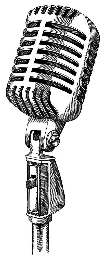 Image Result For Old Microphone Tattoo Drawing Desenho De Microfone Microfone Antigo Tatuagem Microfone