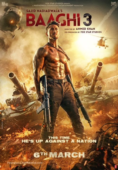 Baaghi 3 2020 Indian Movie Poster In 2020 Full Movies Download Hd Movies Download Hd Movies