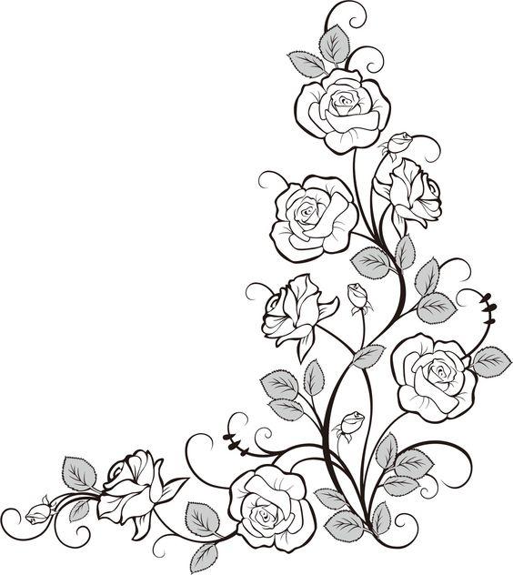 Flower doodle Line Art Pinterest