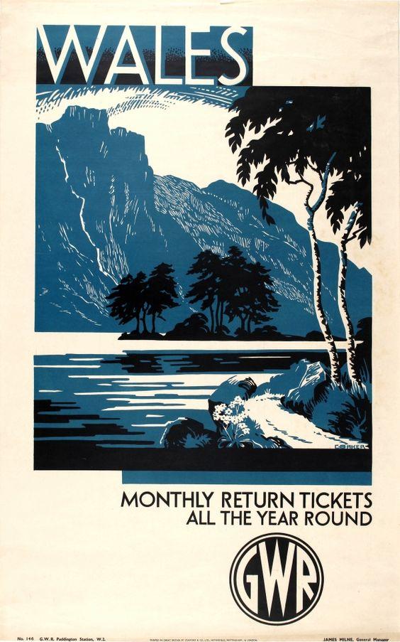 Original Vintage Posters -> Travel Posters -> Wales GWR - AntikBar