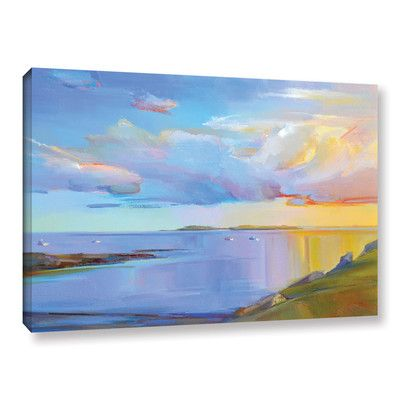 Latitude Run Summer Cove Painting Print on Wrapped Canvas Size: