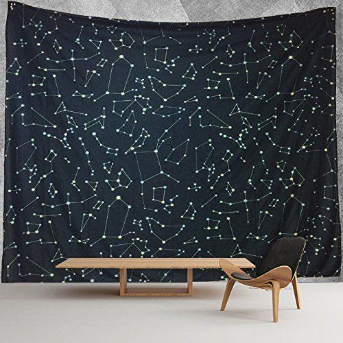 Hwmr 12 Constellations Map Wall Decor Universe Galaxy Spa Https Www Amazon Com Dp B072l1113c Ref C Map Wall Decor Tapestry Wall Hanging Hanging Wall Decor