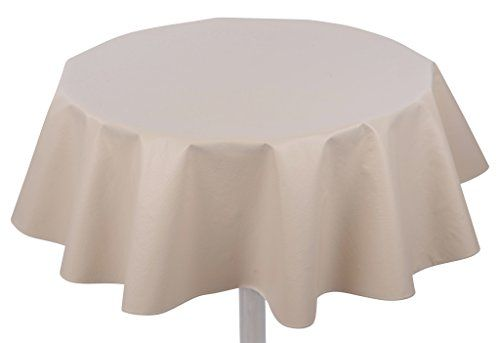 Yourtablecloth Heavy Duty Flannel Backed Round Vinyl Tablecloth