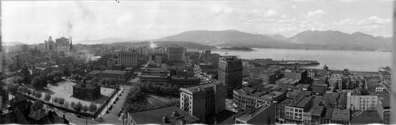 Northern view of downtown Vancouver from the World Building at 500 Beatty Street, 1921, W J Moore