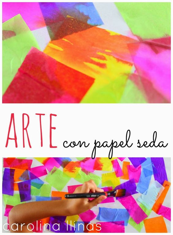 Nuestro Mundo Creativo: Arte con papel seda @carollinas #actividadesniños