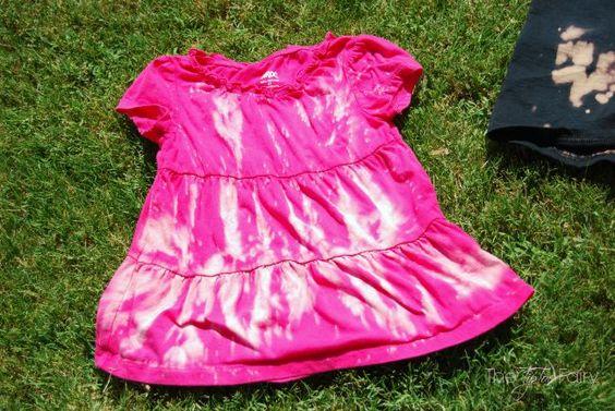 Reverse Tie Dye with Clorox® Bleach Crystals™ Tutorial @Walmart #ad #TotalBleachControl | The TipToe Fairy