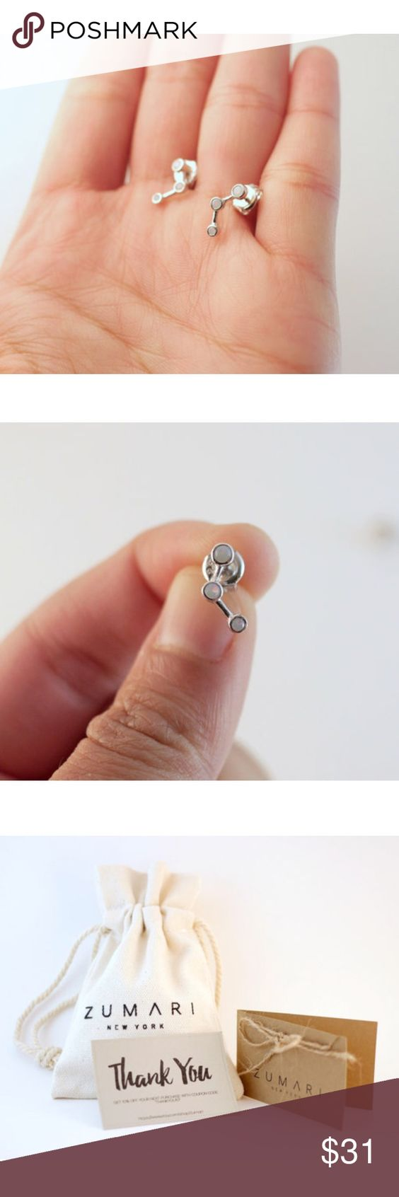 Selling this Opal Earring Climbers | Sterling Silver on Poshmark! My username is: zumari. #shopmycloset #poshmark #fashion #shopping #style #forsale #ZUMARI #Jewelry