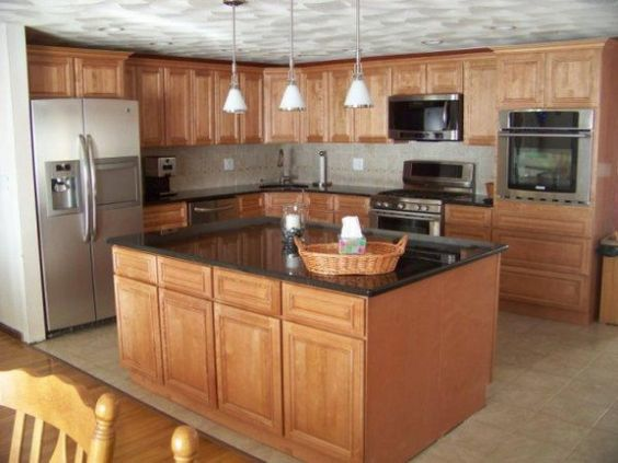 Split level kitchen remodel on a budget for the home for Kitchen island ideas on a budget