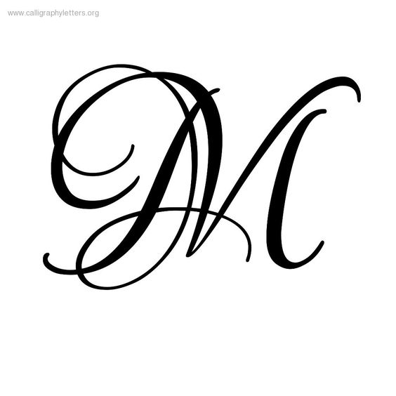 Fancy Calligraphy Letter M With Wings Calligraphy