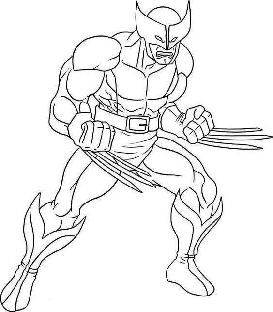 X Men Wolverine Coloring Page Kolorowanki