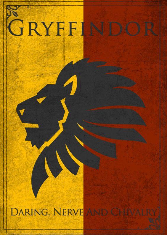 Game of Thrones Style Gryffindor Banner by ~TheLadyAvatar on deviantART