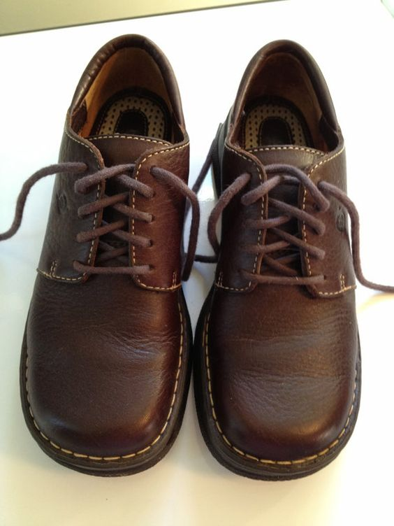 Born Shoes Chestnut Brown Lace Up Oxfords by TheFlyingBlueMonkey, $48.95