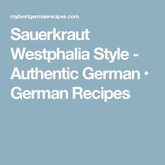 Sauerkraut Westphalia Style - Authentic German • German Recipes