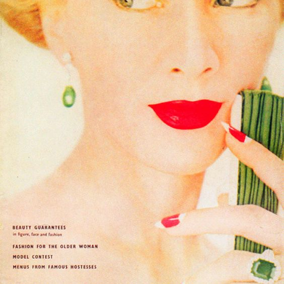 vintage vogue - note the nails and lips, 1950s