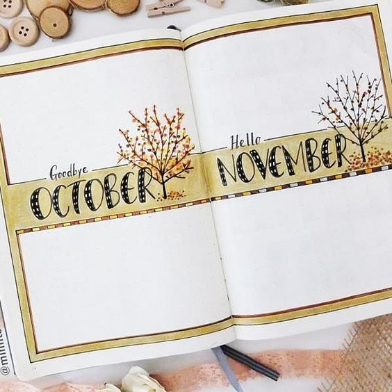 I created a similar page last month and because I liked the idea I did it again! 😊🍃🍁🍂💞 . . .  #bulletjournal #november #planner #bujo #simplymyjournal #monthly #showmeyourplanner