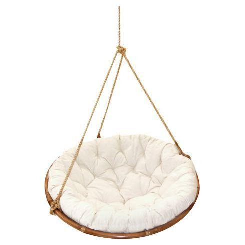 Gen rico silla colgante rat n natural sierra natural y - Sillas colgantes del techo ...