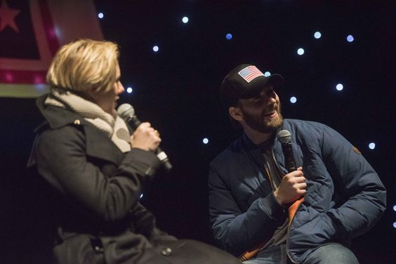 https://flic.kr/p/PLzGTi | 161205-D-PB383-089 | Scarlett Johansson and Chris Evans perform for service members during the USO Holiday Tour at Incirlik Air Base, Dec. 5, 2016. Marine Gen. Joseph F. Dunford, Jr., chairman of the Joint Chiefs of Staff, and USO entertainers, will visit service members who are deployed from home during the holidays at various locations across the globe. This year's entertainers included actor Chris Evans, actress Scarlett Johansson, NBA Legend Ray Allen, 4-time…
