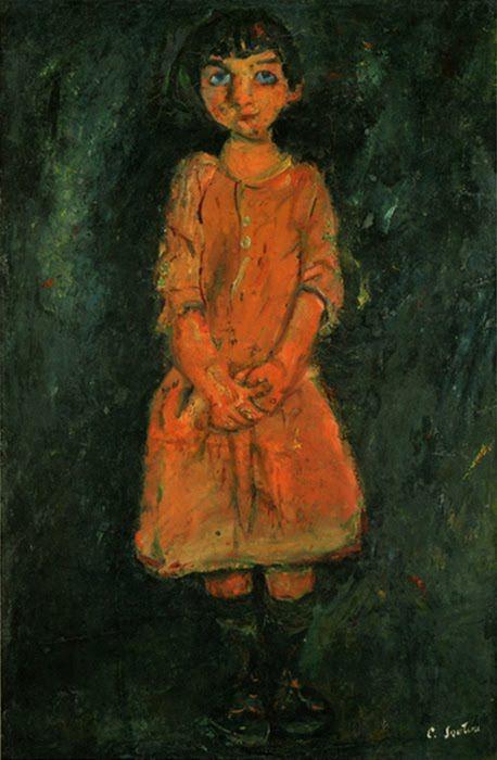 La fillette à la robe rose, par Chaïm Soutine (~1928)