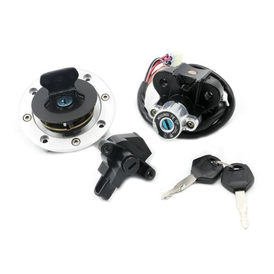 Ignition Switch Lock Fuel Gas Cap Cover Key Set for Suzuki GSF600 GSF1200 Bandit -- Awesome products selected by Anna Churchill