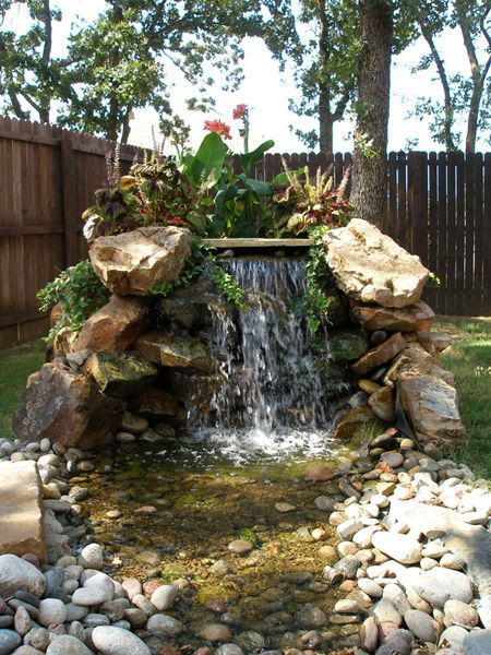 Pinterest the world s catalog of ideas for Small pond water feature