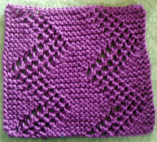 Easy Knit Zig Zag Pattern : Cloths knitted washcloths and zig zag pattern on pinterest