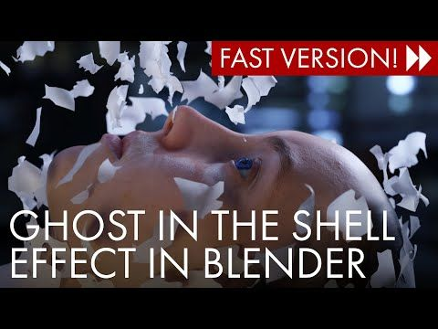 2 Create This Ghost In The Shell Effect With Blender 2 8 Cloth Simulation Fast Version Youtube Ghost In The Shell Blender Tutorial Blender