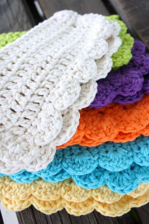 Crochet Patterns Using Cotton Yarn : ... Janes Farm - pattern for crochet dish cloth - Use 100% cotton yarn
