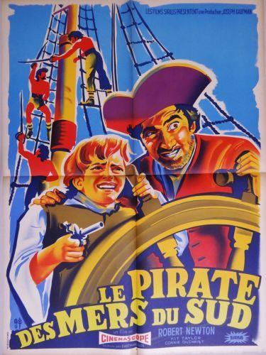 LE Pirate DES Mers DU SUD Robert Newton Affiche Cinema Belinsky 1954 L | eBay