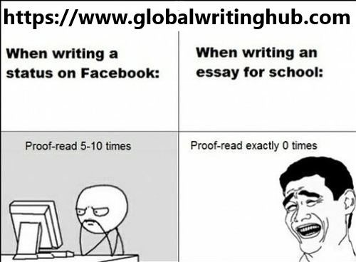 See the difference between Faccebook Status and School Essay D - school essay