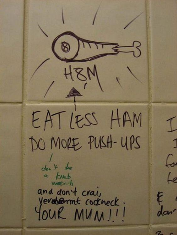 Cool Bathroom Graffiti uselesshumor: funny signs: the best of bathroom stall graffiti