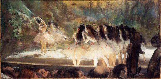 Edgar Degas, Balletto al Opéra di Parigi, 1878.
