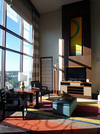 Not technically a suite, but the 3-bedroom Grand Villas at Disney's Bay Lake Tower at the Contemporary Resort are definitely worth a mention. The two-story living rooms are wall-to-wall windows. Get one with a Magic Kingdom view if possible.