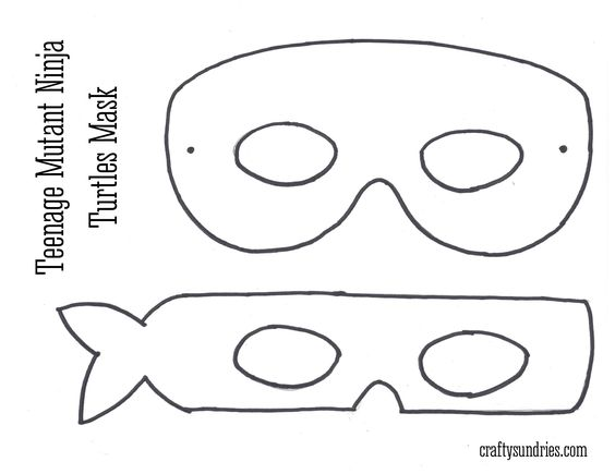 Bewitching image intended for ninja turtle mask printable