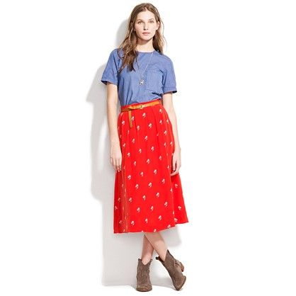 My new skirt from Madewell :): Midi Skirts, Mid Length Skirts, Madewell Skirt, Skirt Madewell, Fashion Style, 105 Skirt, Colored Skirt, Longer Skirts, Cute Skirts