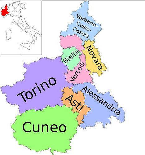 PIEMONTE Province Piemontesi   #TuscanyAgriturismoGiratola