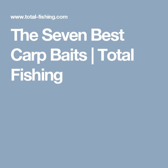 The Seven Best Carp Baits | Total Fishing